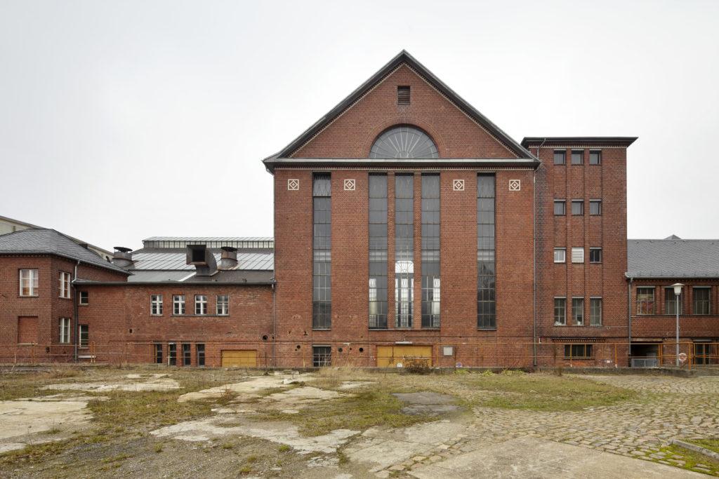 Maschinenhaus aus Backstein des Umspannwerks Steglitz