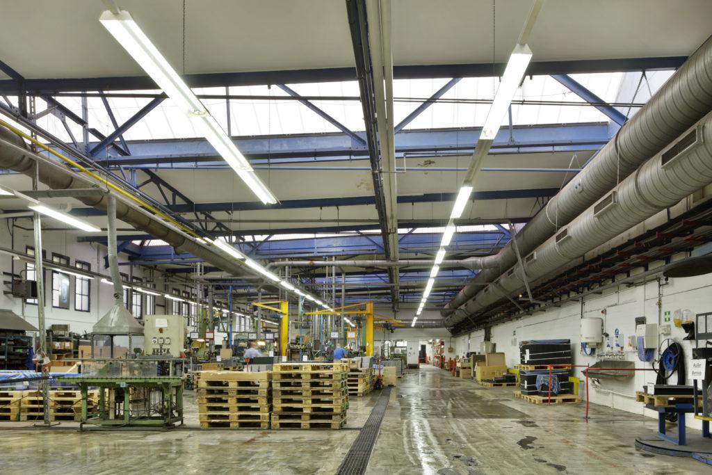 BAE Batterien Produktionshalle