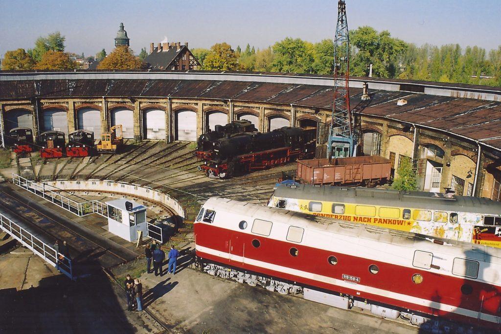 Rundlokschuppen im Bahnbetriebswerk Schöneweide