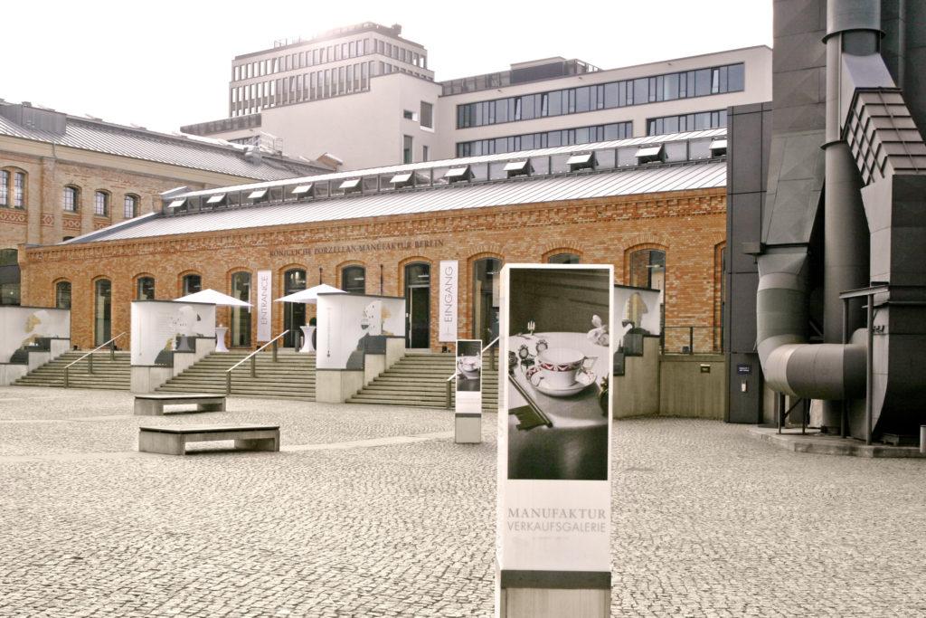 Gebäude der KPM Berlin aus Backstein