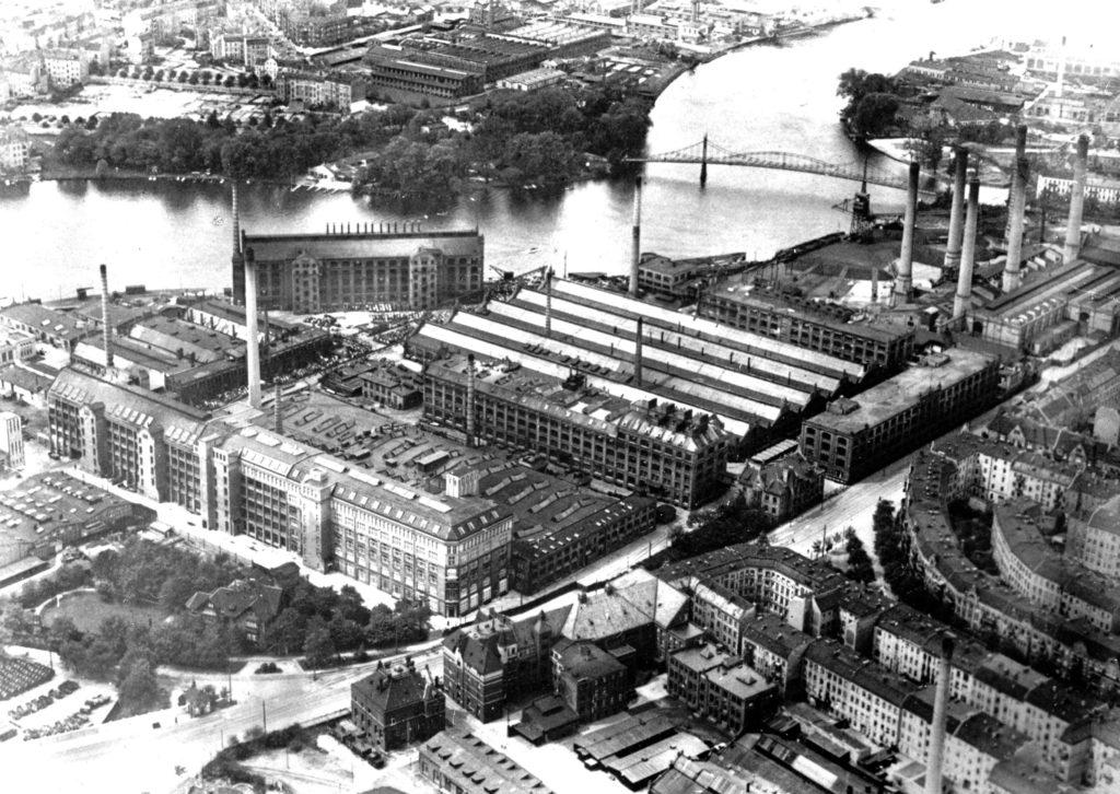 AEG Kabelwerk Oberspree Luftbild 1923