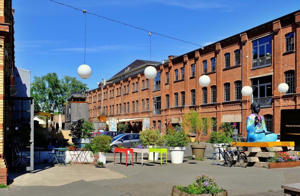 Außenansicht Fabrikgebäude
