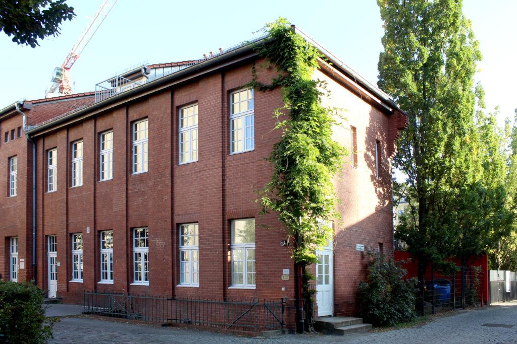 Pumpwerk VII, Außenansicht, Gebäude aus rotem Backstein
