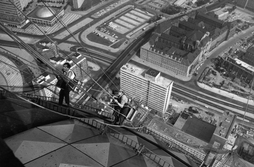Fernsehturm Alexanderplatz Bau 1969